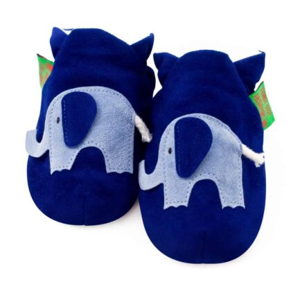 Elephant Soft Baby Shoes & Children's Slippers - Blue
