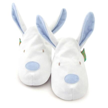 Bunny Soft Baby Shoes - Children's Slippers - Blue