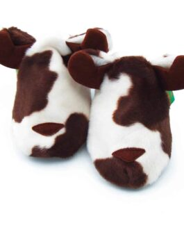 Cow Soft Baby Shoes – Children's Slippers – Brown