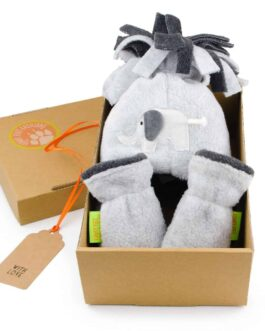 Elephant Hat and Mittens Gift Set