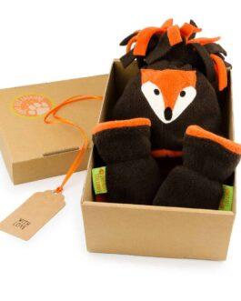 Fox Hat and Mittens Gift Set – Mocha & Orange
