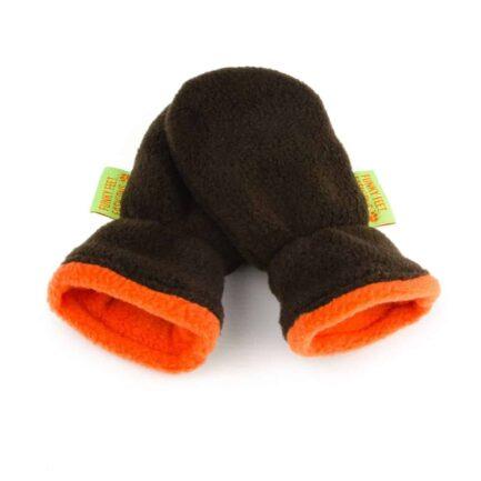 Fox Hat and Mittens Gift Set - Mocha & Orange