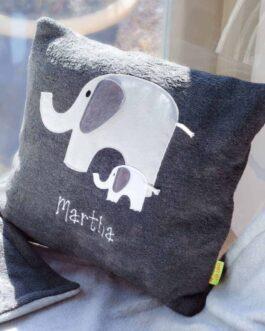 Elephant cushion – Grey