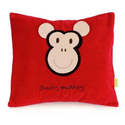Monkey personalised cushion - Red