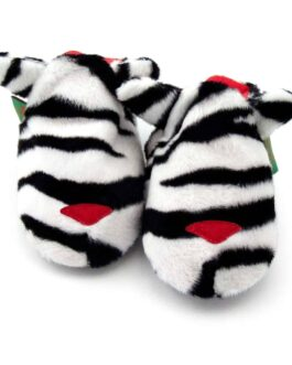 Zebra soft baby shoes & toddler slippers