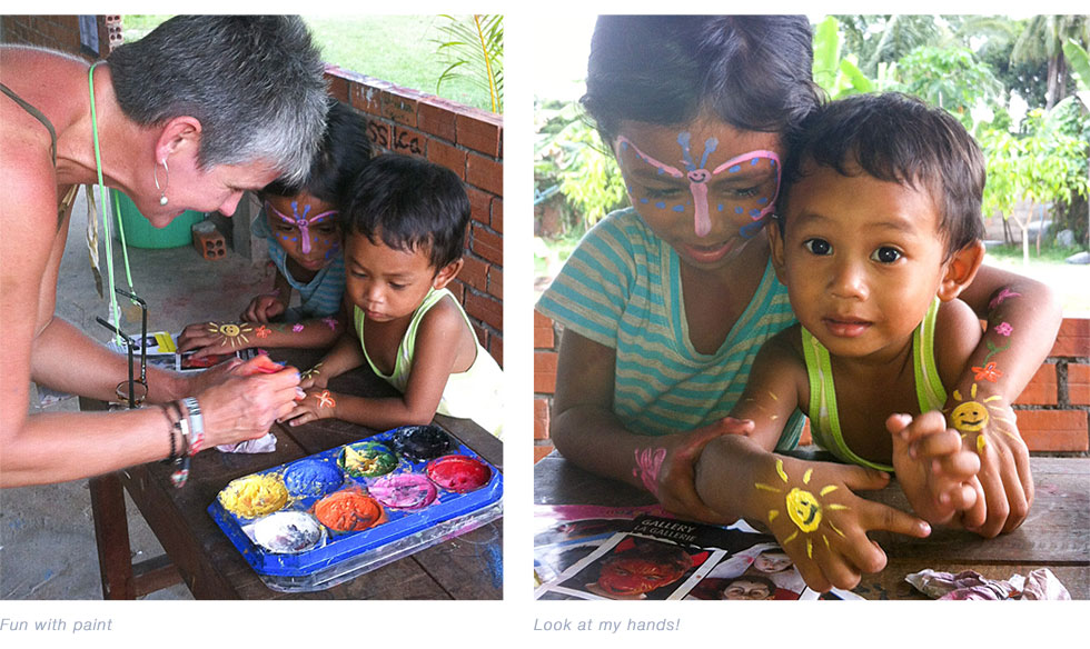 Face & hand painting at the Hope Agency School